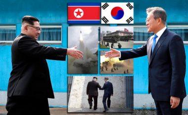 Pajtimi historik i Koresë së Veriut dhe të Jugut: Kim dhe Moon i japin fund luftës 68 vjeçare (Foto)