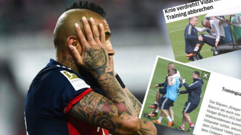 Bayerni në panik, Vidal largohet i lënduar nga stërvitja