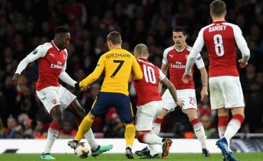 Arsenali dhe Atletico ndahen baras në Emirates, Griezmann zhvlerëson golin e Lacazettes