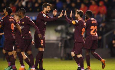 Barcelona shpallet kampion i La Ligas pas fitores dhe het-trikut të Messit ndaj La Corunas, festojnë titullin e 25-të në histori