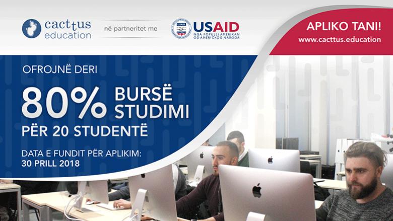 Cacttus Education dhe USAID ofrojnë deri 80% bursë për studim, për 20 studentë – për vitin akademik 2018/19
