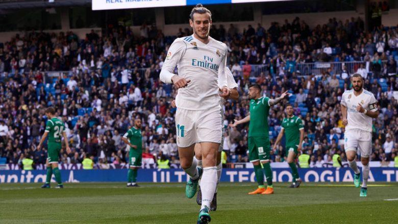 Gareth Bale duke fesutar golin ndaj Leganes në Santiago Bernabeu (Foto: Getty Images)