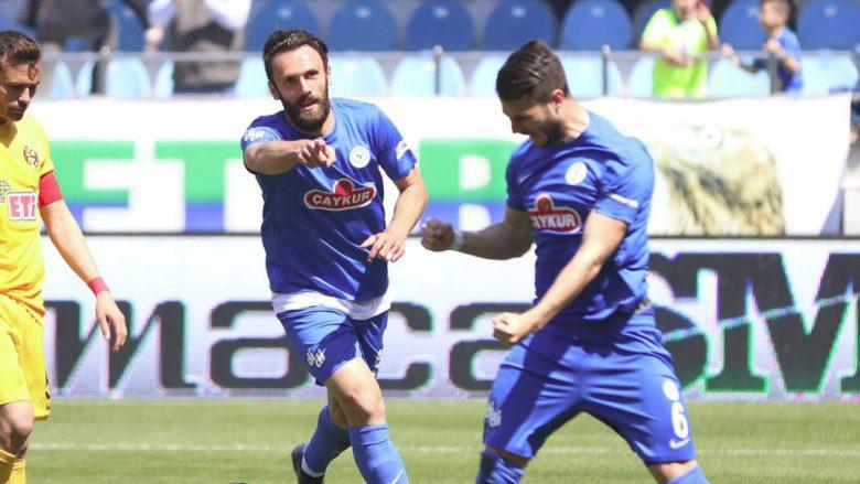 Muriqi shpërthen në Turqi me dy gola