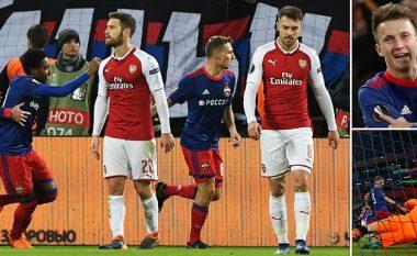 Arsenali barazon në udhëtim te CSKA, por kalon në gjysmëfinale falë fitores së thellë në Emirates