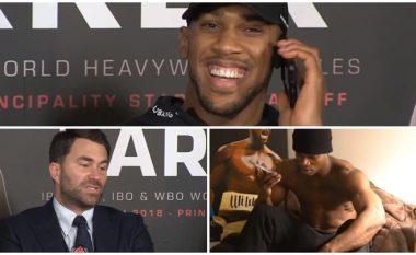 """Joshua bën shaka sikur Wilder e thërret në telefon, promotori i 'AJ' thotë se nuk është kontaktuar asnjëherë – """"Bombarduesi i Bronztë"""" i demanton me një video në rrjetet sociale"""