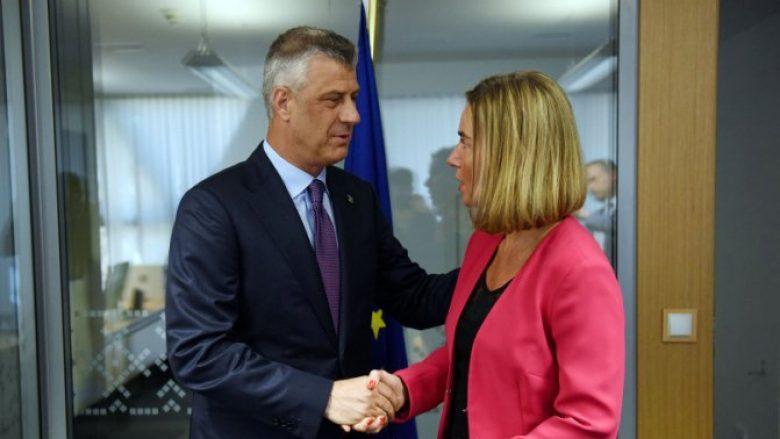 Çfarë tha Thaçi pas takimit me Mogherinin dhe Vuçiqin në Samitin e Sofjes?