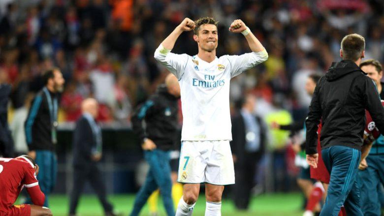 Cristiano Ronaldo duke festuar triumfin ndaj Liverpoolit (Foto: Getty Images)