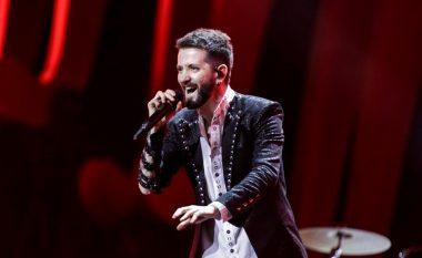 """Ekskluzive, flet Eugent Bushpepa pas performancës në """"Eurovision"""": Zemra mal me flamujt shqiptarë përreth"""