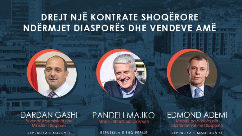 """Konferenca """"Diaspora Flet"""" bashkon në Prishtinë ministrat e Diasporës së Kosovës, Shqipërisë dhe Maqedonisë"""