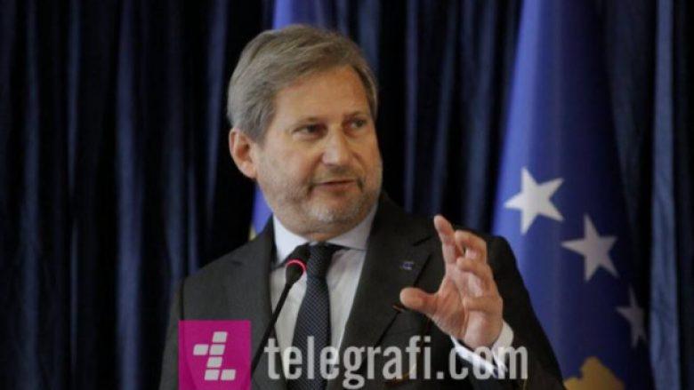 Hahn: Kosova dhe Serbia të definojnë përmbajtjen e një marrëveshjeje ligjërisht të detyrueshme