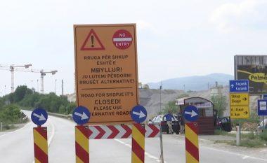 Ndalimi i qarkullimit në rrugën nacionale bllokon Kaçanikun