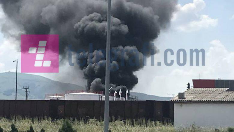 Katër të lënduar nga shpërthimi i një rezervuari derivatesh në Miradi të Fushë Kosovës (Foto)