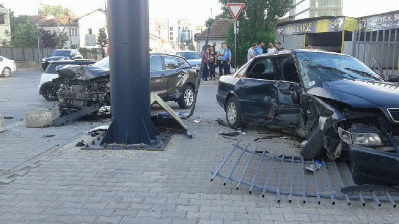 Aksident i rëndë në Prishtinë, lëndohet shoferi dhe këmbësorja