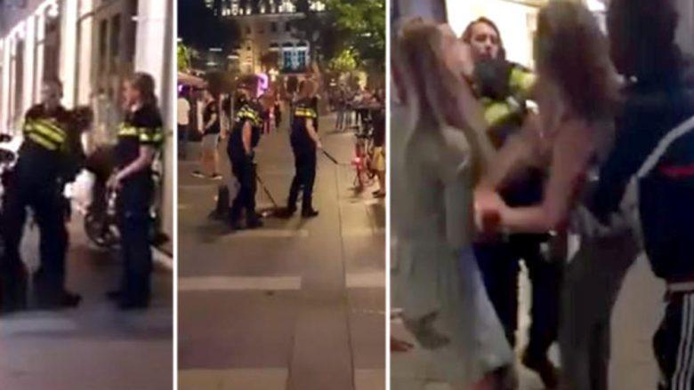 Sulmon policinë holandeze, gruaja e dehur e pëson keq kur e nokautojnë (Video, +18)