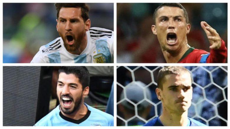 Messi, Ronaldo, Suarez dhe Griezmann, përballjet që do t'i shohim në ditët në vijim – Mund të ketë çerekfinale Argjentina – Portugalia