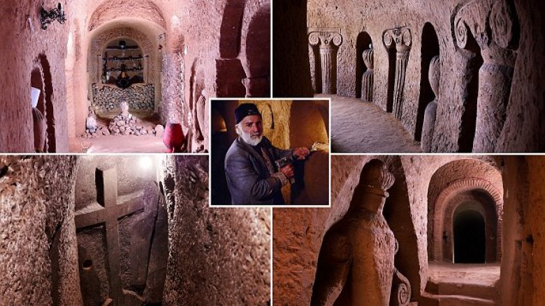 I kaloi 23 vite duke gdhendur gurë, burri nga Armenia ndërtoi shpellën prej 27 mijë metrave katrorë duke përdorur vetëm daltë e çekan (Foto)