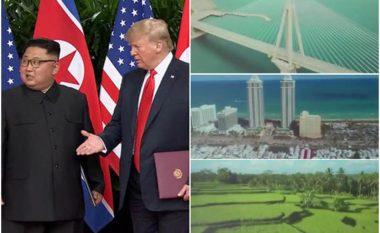 """Pamjet që bindën Kimin ta nënshkruaj marrëveshjen, Trumpi ia tregoi në iPad """"filmin e shkurtër"""" gjatë takimit (Video)"""