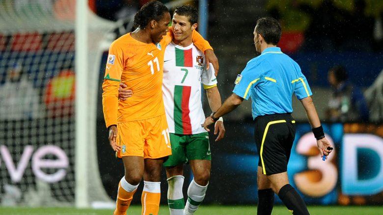 Didier Drogba dhe Cristiano Ronaldo (Foto: Getty Images)