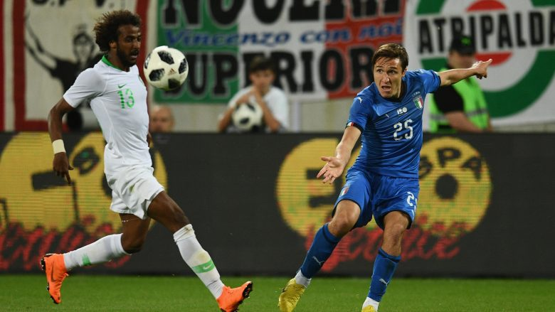ST GALLEN, SWITZERLAND - MAY 28:  Federico Chiesa of Italy in action during the International Friendly match between Saudi Arabia and Italy on May 28, 2018 in St Gallen, Switzerland.  (Photo by Claudio Villa/Getty Images)