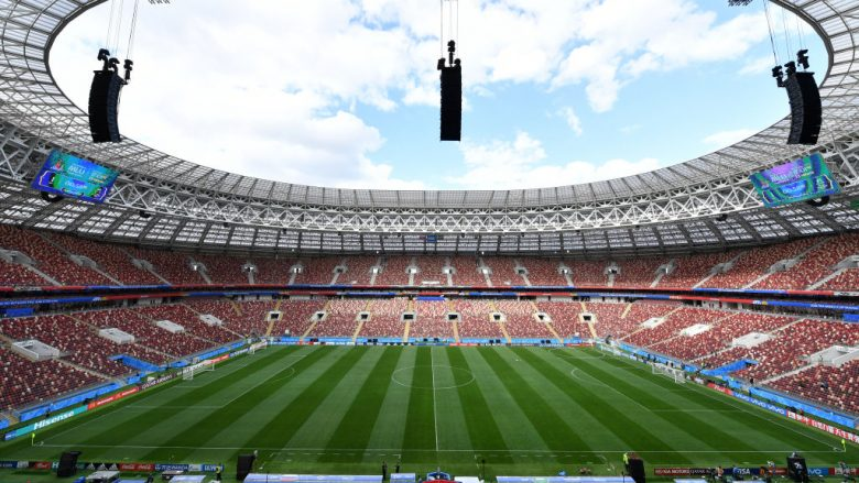 MOSCOW, RUSSIA - JUNE 13:  A general view during a Saudi Arabia training session ahead of the 2018 FIFA World Cup opening match against Russia  at Luzhniki Stadium on June 13, 2018 in Moscow, Russia.  (Photo by Dan Mullan/Getty Images)