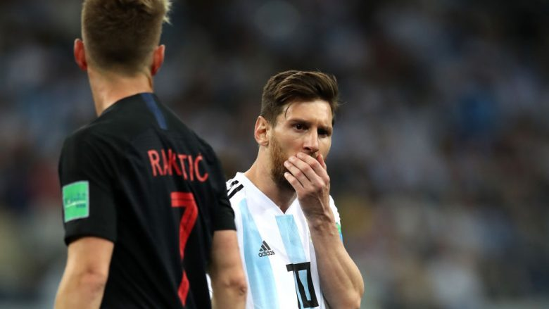 Argjentina mund të jetë kualifikuar, por nuk u duk aq mirë pas deklasimit prej 3-0 nga Kroacia. Foto: Getty Images