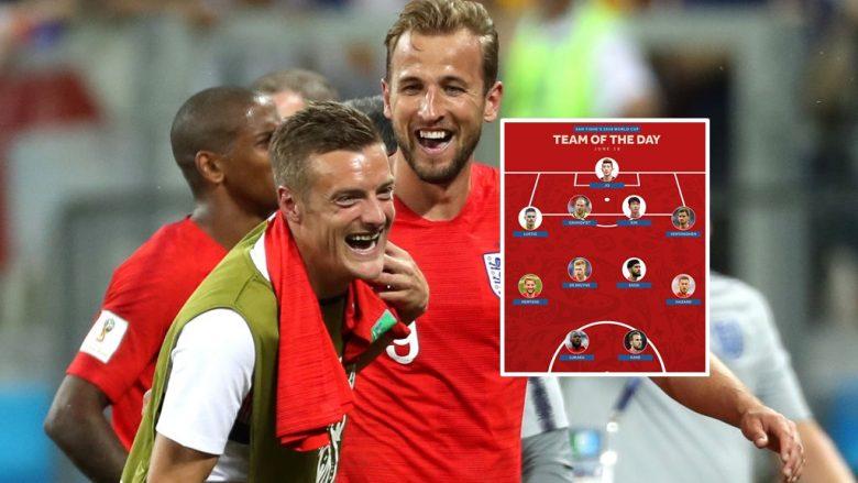 Jamie Vardy dhe Harry Kane pas fitores ndaj Tunizisë (Foto: Getty Images)