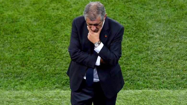 Trajneri i Portugalisë, Santos: Përgëzime për Uruguain, eliminim trishtues për Portugalinë