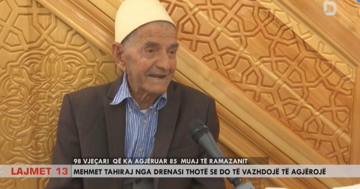 98 vjeçari që ka agjëruar 85 muaj të Ramazanit (Video)