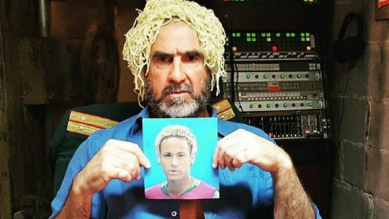 Cantona ironizon me frizurën e Neymarit, vendos shpageta në kokë