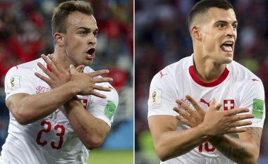 Zyrtare: Dënohen me para Xhaka, Shaqiri dhe Lichtsteiner për festën me shqiponjë