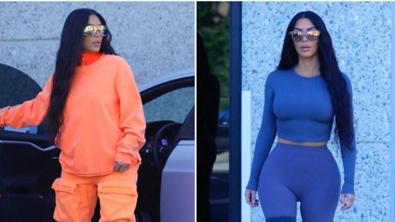 Në një ditë, Kim Kardashian ndryshoi katër veshje dhe tregoi një ngjyrë të re të flokëve
