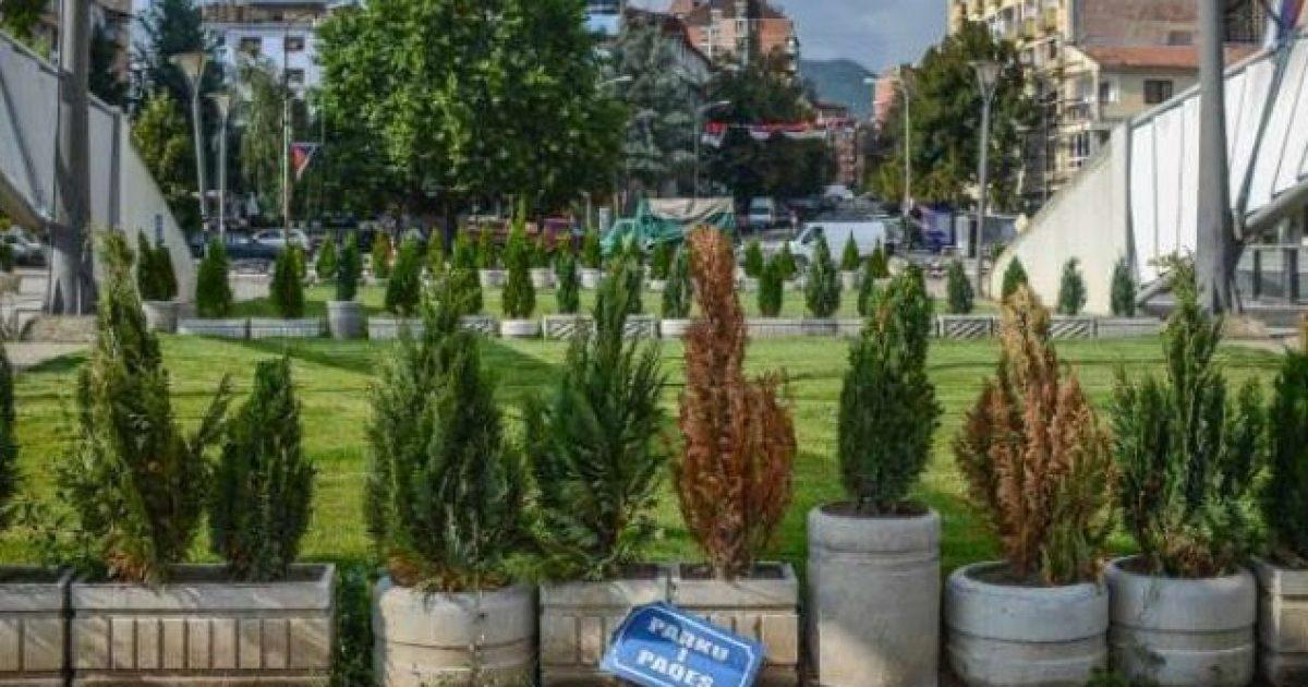 """Katër vjet nga rivendosja e barrikadës """"Parku i paqes"""""""