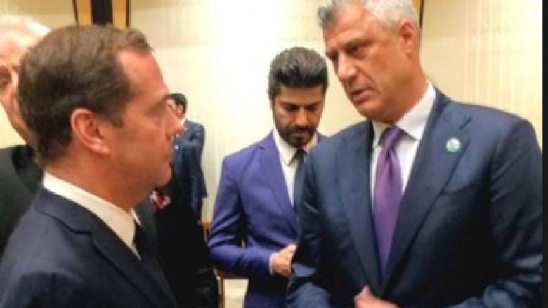 Thaçi: Takimi me kryeministrin rus, Medvedev ka qenë i shkurtër