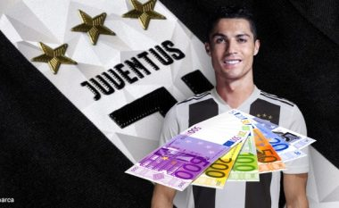 Fitimet e Ronaldos te Juve në sekondë, minutë, orë, ditë, javë, muaj dhe vit