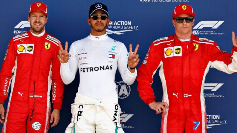 Lewis Hamilton, Sebastian Vettel dhe Kimi Raikkonen (Foto: Getty Images)
