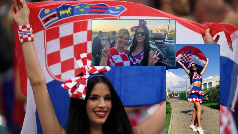 Tifozja më e popullarizuar kroate, bashkë me presidenten në mbështetje të kombëtares