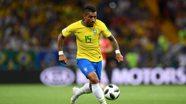 ROSTOV-ON-DON, RUSSIA - JUNE 17:  Paulinho of Brazil on action during the 2018 FIFA World Cup Russia group E match between Brazil and Switzerland at Rostov Arena on June 17, 2018 in Rostov-on-Don, Russia.  (Photo by Shaun Botterill/Getty Images)