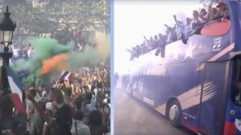 Qindra mijëra francezë presin heronjtë e tyre, kampionët e Botës
