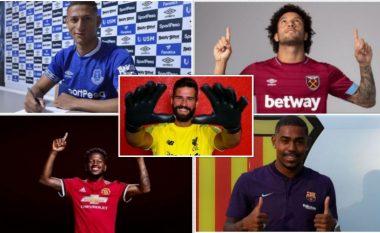 Brazilianët trendi i këtij afati kalimtar – Blerjet e mëdha deri më tani mbajë emrin e Alisson, Richarlison, Fred dhe Fabinho, top 10 brazilianët e këtij afati