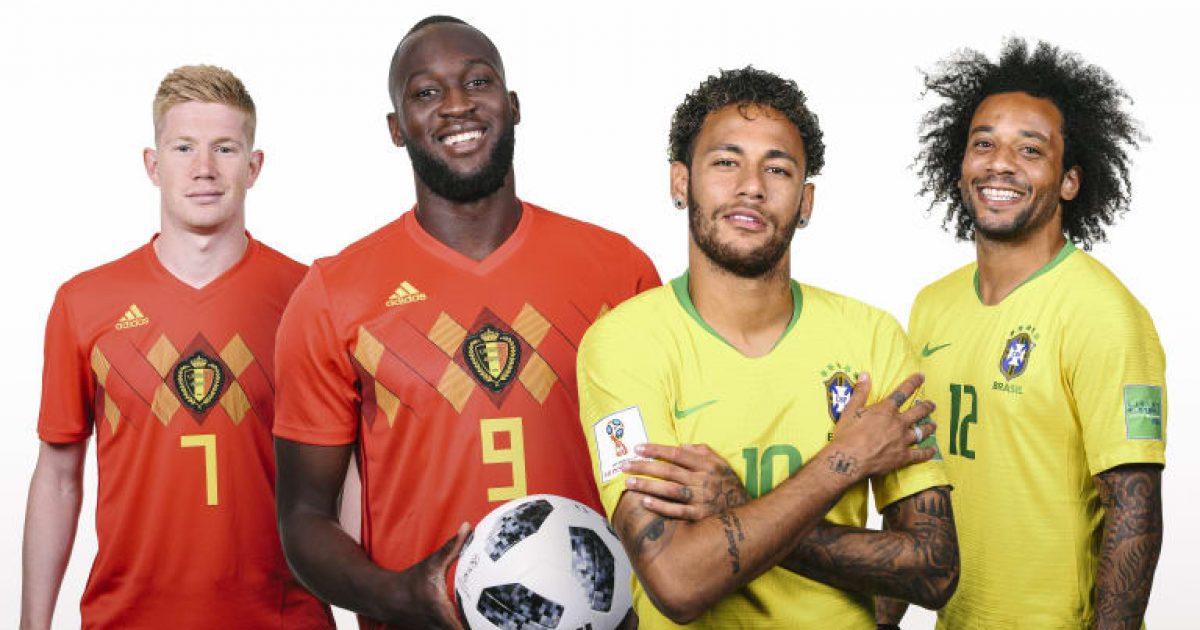 Brazil – Belgjikë, formacionet zyrtare të super çerekfinales