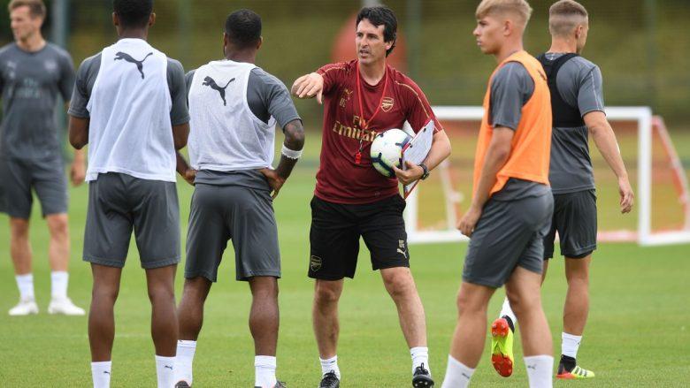 Emery gjatë një stërvitje me Arsenalin