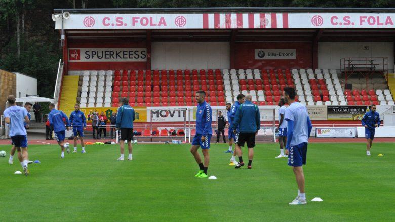 Prishtina gjatë stërvitjeve në Emile Mayrisch (Foto: PrishtinaFC.com)