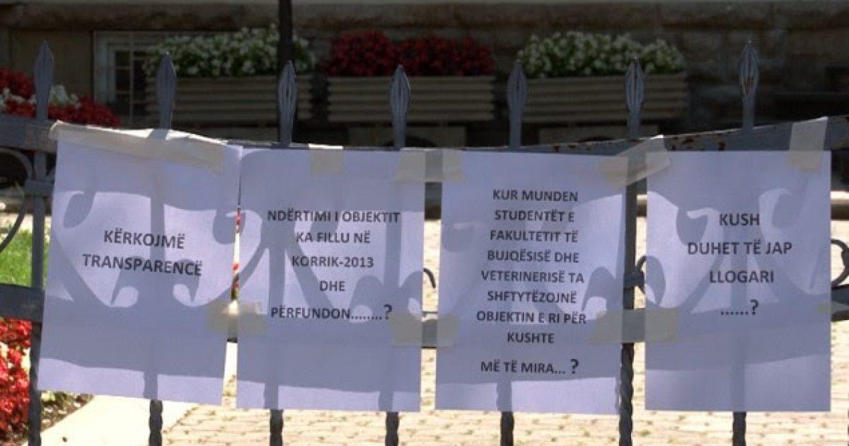Protestojnë veterinarët e ardhshëm, kërkojnë objekt për studime