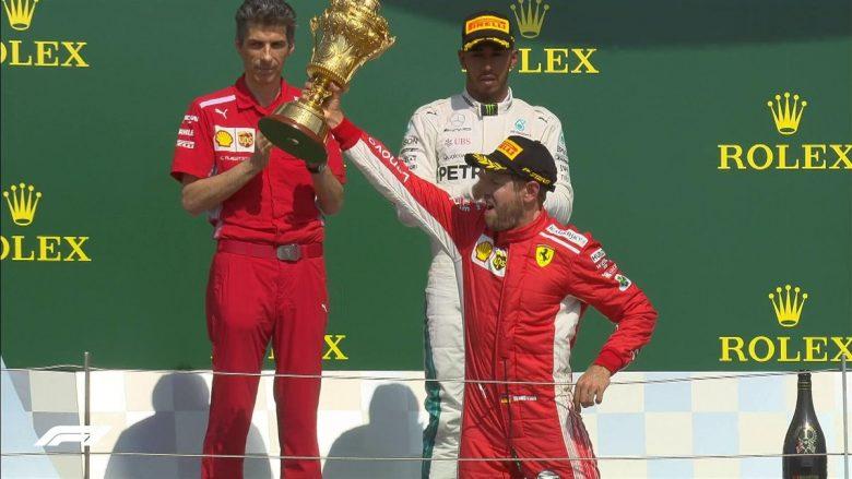 Vettel triumfon në garën e 'çmendur' për çmimin e madh të Britanisë