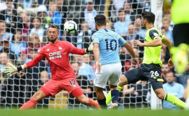 Aguero shënon gol të bukur me parabolë pas asistimit të portierit Ederson