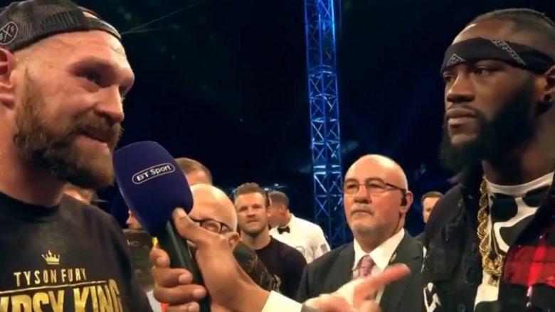 Wilder hyn në ring për t'i thënë Furyt se meçi mes tyre zyrtarisht do të ndodhë