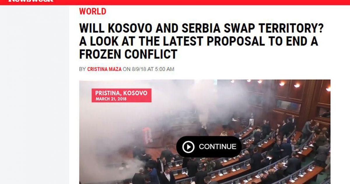 """A do të shkëmbejnë Kosova dhe Serbia territore? Një shikim në propozimin e fundit, nga """"Newsweek"""""""