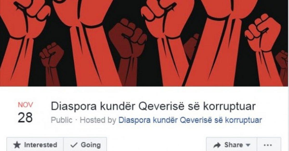 Diaspora paralajmëron protestë kundër Qeverisë më 28 nëntor, në Prishtinë