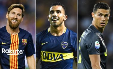 Tevez flet për dallimet mes Ronaldos dhe Messit