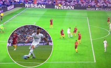 Driblimi fantastik i Asensios dhe dështimi i tij përball portierit në stilin 'pa e shikuar fare'
